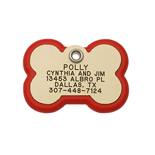 LuckyPet Pet ID Tag - Bone Frame Tag - Rugged Dog Tags with
