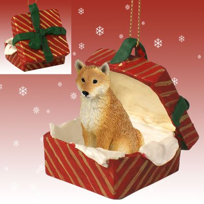 SHIBA INU Dog Japanese sits in a Red Gift Box Christmas Ornament New RGBD96 - Amazon.com: SHIBA INU Dog Japanese Sits In A Red Gift Box Christmas