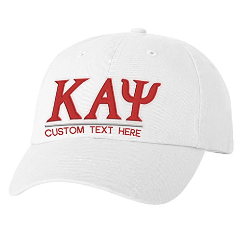 Personalized Kappa Alpha Psi Greek Line Hat White ()