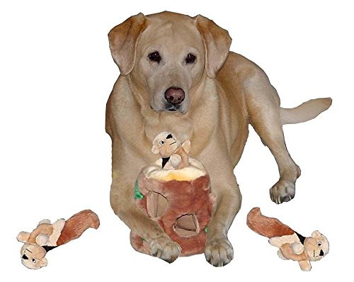 Outward-Hound-Hide-A-Squirrel-and-Puzzle-Plush-Squeaking-Toys-for-Dogs