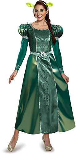 Deluxe Adult Fiona Costumes (Disguise Women's Fiona Deluxe Adult Costume, Green, Large)