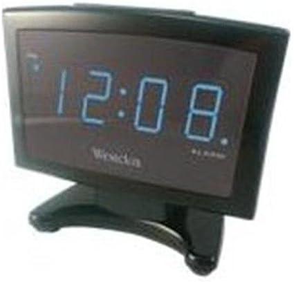 Westclox 70014X Blue Led Plasma Alarm Clock