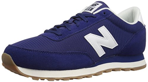 New Balance Mens 501 Running Classics Suede Trainers Navy White