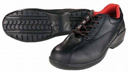 Lady zapato de seguridad S1, piel, color negro