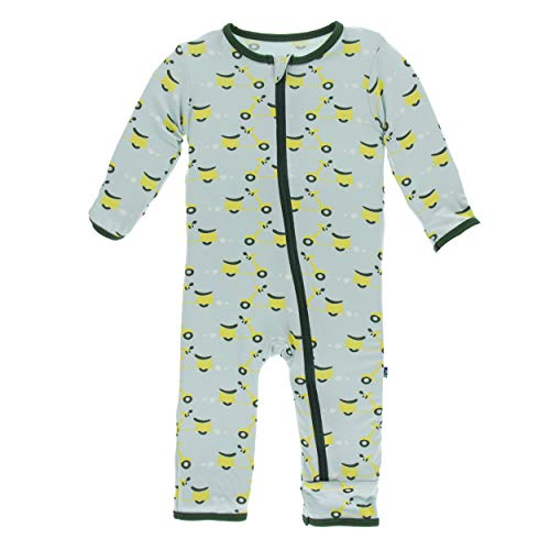 Kickee Pants Little Boys Print Coverall with Zipper - Spring Sky Scooter, 6-9 Months