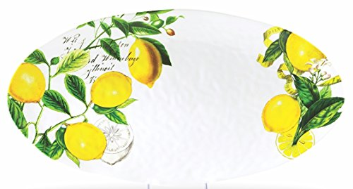Michel Design Works Melamine Oval Serving Platter, Lemon Basil