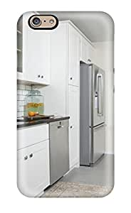 White Kitchen With Stainless Appliances And Grey Tile Flooring Case Compatible With Iphone 6/ Hot Protection Case