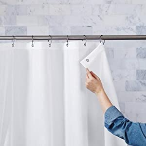 Better Homes And Gardens Ultimate Shield Fabric Shower Curtain Liner, White