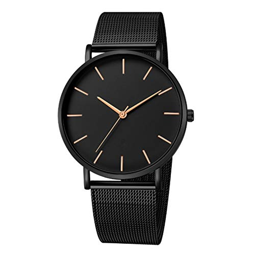 SODIAL Sport Date Analog Quartz Wrist Watch Fashion Stainless Steel Men Relogio Masculino Casual Male Clock Wristwatch…