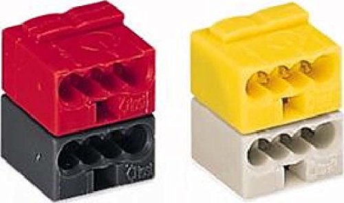50 Stü ck Wago Steckverbinder fü r EIB-Anwendungen, Farbe: grau und gelb verrastet 243-212