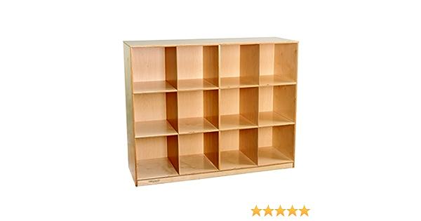 Childcraft 1464173 Mobile Mini Storage Locker 12 Cubby Wood 51 1 2 X 16 7 8 X 42 Natural Wood Tone Industrial Scientific Amazon Com