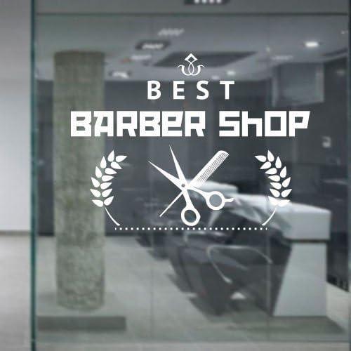Barber Shop Vinilo Adhesivo Pared Belleza Peluquería Corta Barba ...