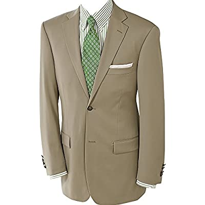 Paul Fredrick Men's 100% Wool Two-Button Travel Blazer British Tan Regular for cheap