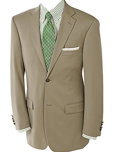 Paul Fredrick Men's 100% Wool Two-Button Travel Blazer British Tan 54 Long by Paul Fredrick