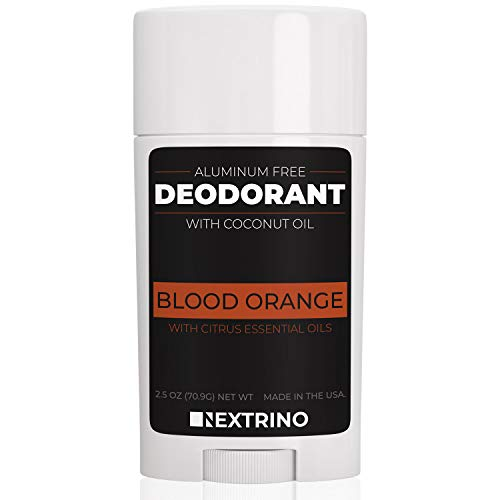 All Natural Aluminum Free Deodorant - Made in the USA with Coconut Oil & Essential Oils for Women and Men - Vegan, Non-GMO & Organic Ingredients (Blood Orange) (Best Deodorant For Sensitive Underarms)