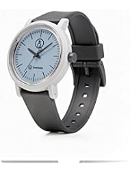 Q&Q SmileSolar Series Light Blue Dial x Grey Strap RP12J006Y Powered by Solar