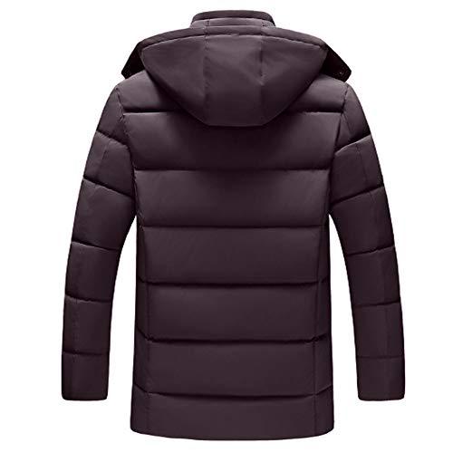 hommes Chaud Homme Coton Veste Style Coupe Zipper Hiver Nouveau Vin En vent Rouge Et Tefamore Automne Manteau Hat 4Wdvnp74qB