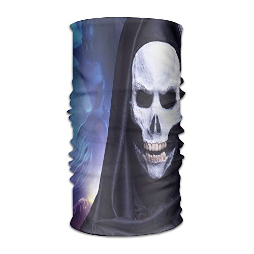 Unisex Men Women Fashion Skeletor Halloween Makeup Ghost Versatile Bandana Headband Outdoor Daily Yoga Magic Headwear Multifunctional UV Protection -
