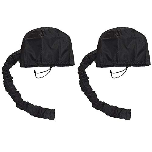 - Drying Hood Bonnet For Use With Hair Dryer Portable Soft Hood Attachment Easy To Use For Haired Women,2 Pcs,Black