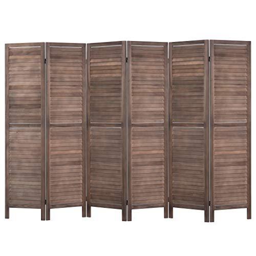 Cheap  RHF 6 Panel 5.6 Ft Tall Wood Room Divider, Wood Folding Room..