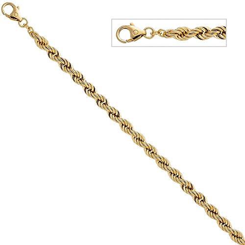 5,4mm Cordon Bracelet Bracelet Chaîne Bracelet Bijoux en or jaune 58519cm