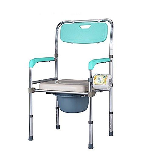 Mariny アルミ合金プーリーお座り議長は、障害者用トイレ付きバスチェアオールド妊婦の人々を折ります B07DCP65CC