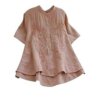 Wawer Mujer Camisa Casual Boho Blusa Moda Mujer Floral Shirt Suelto ...