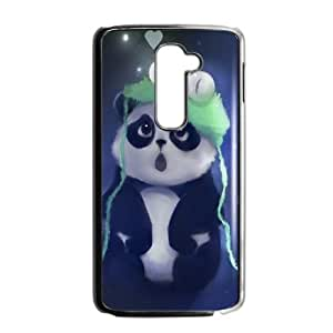 LG G2 Cell Phone Case Black Cute Panda Painting JSK644367