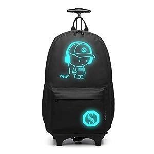Kono Tiny Trekker trolley per bambini bagaglio a mano trolley con maniglia trolley leggero con ruote valigia a mano… 4 spesavip