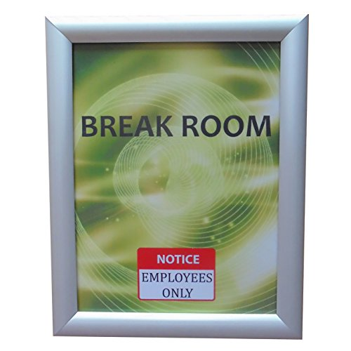 Aluminum Snap Frame for Poster 8 1/2 x 11 Inches, 25mm Profile, Color Silver