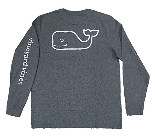 Vineyard Vines Graphic Pocket Tee Vintage Whale (Medium, Charcoal Heather)