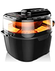 Air Fryer VPCOK 8-in-1 Health Fryer, XXXXL, 10L, 1200W, Service for 5-8 Person, Multifunctional Fryer Oil Free and Low Fat Cooking with Rapid Air Circulation System, 80-240℃, Black