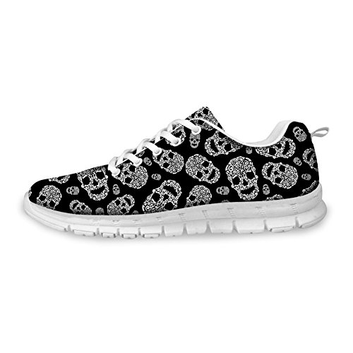 Bigcardesigns Stylish Sneaker Casual Sprot Skull Head Running Shoes Outside 36 mPlTl