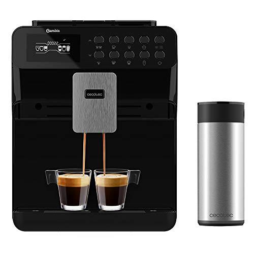 Cecotec Cafetera Automática Power Matic-ccino 7000 Serie Nera. Depósito de Leche, Pantalla digital, Café Personalizable…
