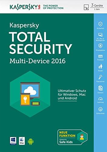 Kaspersky Total Security Multi-Device 2016 für bis zu 3 Geräte [PC/Mac/Android Download]