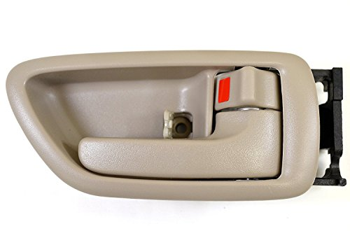 Eynpire 8063 Right Passenger Side Interior Inside Inner Door Handle Beige/Tan Crew Cabs For 2001-2007 Toyota Sequoia; 2004-2006 Toyota Tundra (Double Cab ONLY)