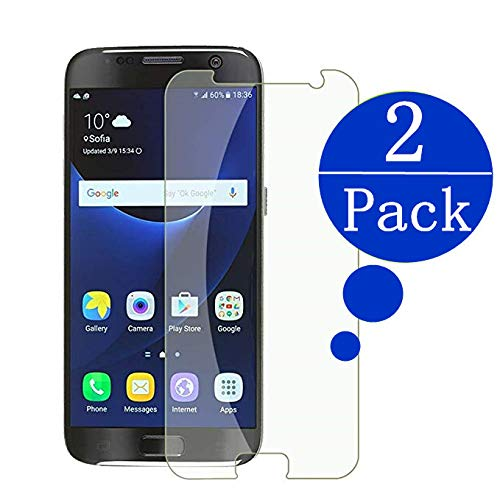 Samsung Galaxy S7 Screen Protector,FURgenie [2 - Pack] 9H Hardness,Bubble Free [Ultra-Clear][Scratch Proof][Case Friendly] Tempered Glass Screen Protector for S7