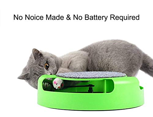 PSK PET MART Cat Interactive Toys with a Running Mice and a Scratching Pad, Catch The Mouse, Cat Scratcher Catnip Toy