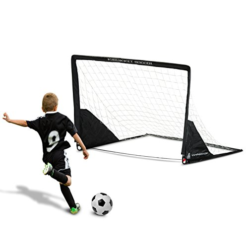 Rukket 6x4ft Portable Soccer Goal | Kids Youth Practice Foldable / Pop Up Soccer Net (Goals Soccer Foldable)
