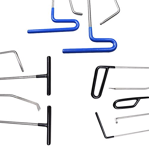 WHDZ Paintless Dent Repair Rods PDR Rods Tool 21Pcs Auto Body Paintless Dent Repair Tools Kit for Door Dings Hail Repair and Dent Removal by WHDZ (Image #5)