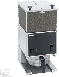 Bunn 26800 0000 6 Lb Low Profile Portion Control Grinder W Two Hoppers