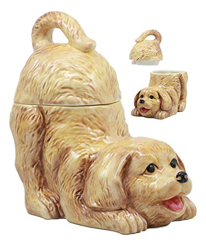 Cute Golden Retriever Ceramic Cookie JAR