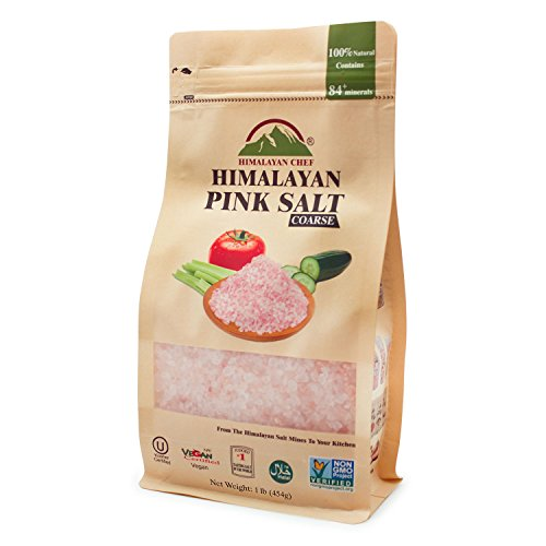 Himalayan Chef Pink salt, 1 lbs Pouch Coarse Grains - Italian Main Course Dishes