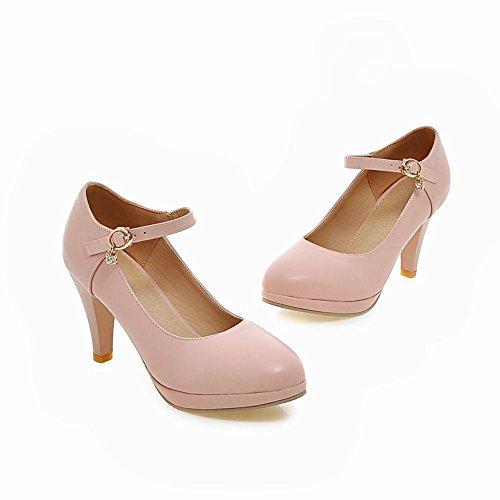 MissSaSa Damen elegant Knöchelriemchen high heel Plateau Pumps Pink