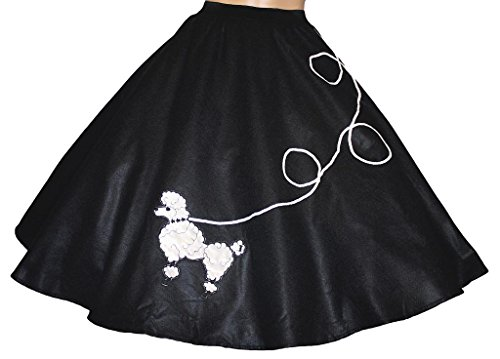 3 BIG NOTES Adult Felt Poodle Skirt Size Medium (30