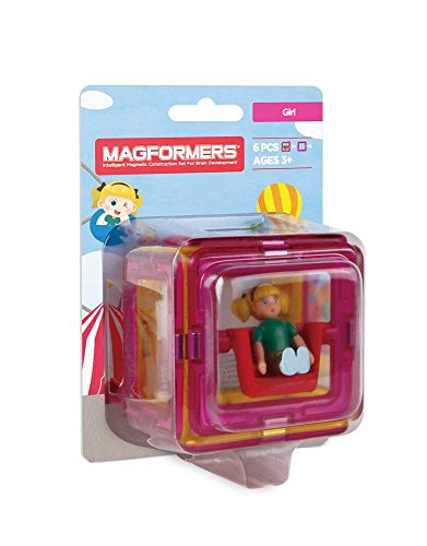 Magformers Figure Plus Girl (6 Piece) Set Magnetic    Building      Blocks, Educational  Magnetic    Tiles Kit , Magnetic   ()