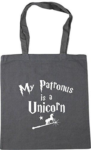 Patronus Graphite x38cm litres Shopping Unicorn 10 Gym Beach HippoWarehouse My Is A Grey Tote Bag 42cm 6TOPxP4q5w