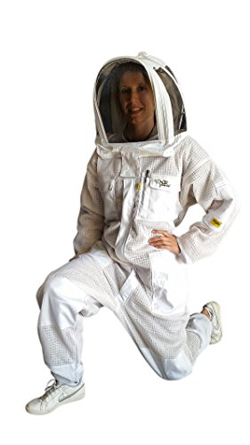 OZ ARMOUR Beekeeping Suit Ventilated ULTRA COOL Three Layer Mesh with Fencing Veil & Round Brim Hat by Oz Armour (Image #9)