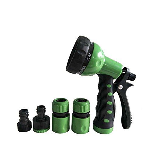 Garden Hose Nozzle,Multi Spray Gun Set,Garden Watering Nozzle,Pistol Grip Sprayer,Heavy Duty High Pressure Flow Control Setting Knob By Ayuboom