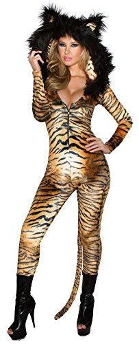 Tiger Catsuit Costume J Valentine Animal Costume (J Valentine Cat Costume)